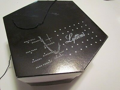 Vintage Lytton's Millinery Department Square Hat Box