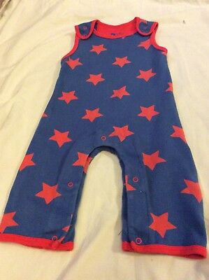 boys piccalilly star dungarees 6-12 months
