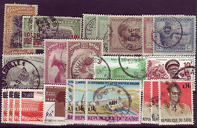 Congo 1910/1973 lot of 24 used stamps