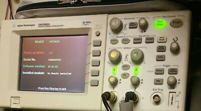 HP Agilent Keysight DSO3062A Oscilloscope 60MHz 1GSa/s 2 Channel