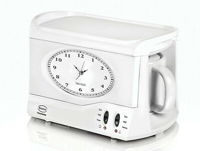 Swan Teasmade Teasmaid Tea Maker Kettle Made Maid Coffee Clock Light Alarm