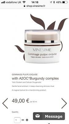 Vinesime Gommage 50ml Brand New RRP £44 with A2OC*Burgundy complex*Anti-Oxidant