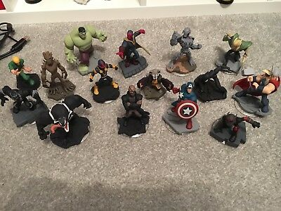 Disney Infinity 15 Marvel Figures - Avengers - Guardians of the Galaxy - SpiderM