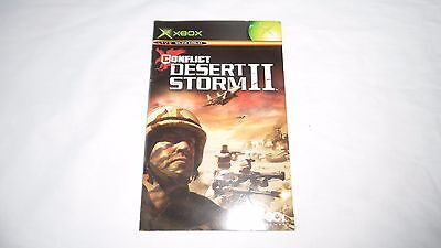 CONFLICT DESERT STORM II (2)  :  INSTRUCTION MANUAL (BOOKLET) ONLY , xbox