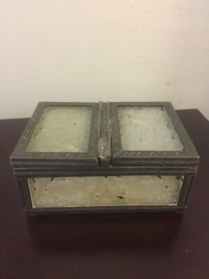 Chinese Antique White Jade Tea Caddy  Box