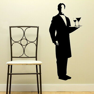 Butler Large Vinyl Transfer / Giant Removable Wall Stickers RA122
