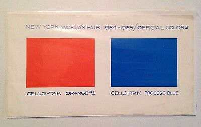 New York World's Fair 1964-1965 Official Colors Pallet (Cello-Tak)