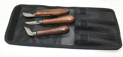 Set Of 3 Wood Carving Knives Whittlin Knife Folk Art Hobby & Crafts