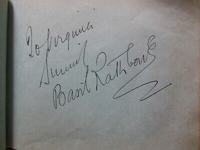 1937 autograph album Lon Chaney Jr. Basil Rathbone Bruce Cabot Robert Taylor JSA