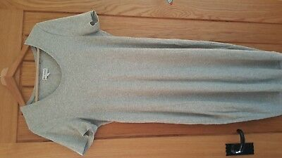 next maternity grey ribbed stretch dress size 16