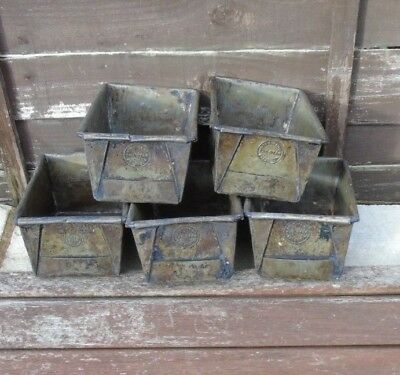 Vintage Early Loaf Bread Tin ideal planter, display, herb box Joblot x 5