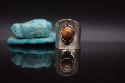 Sterling Silver Estate Tiger's Eye Size 5 Ring