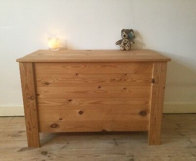 Solid Pine Blanket Box Ottoman