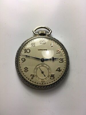 Antique 12 Size Gold Filled Longines Pocket Watch Parts Or Fix