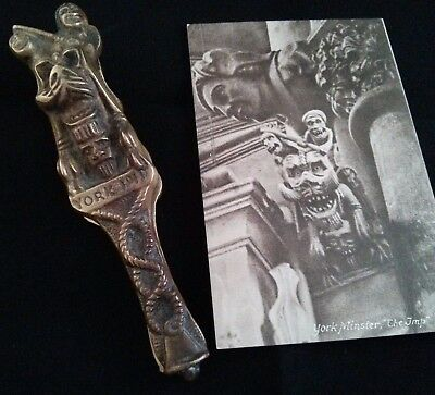 Souvenirs of York Minster – Brass Nutcracker & Postcard – York Imp