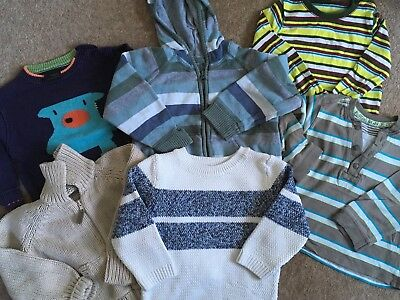 Bundle Of Boys Jumpers And Tops Age 12-18 Months