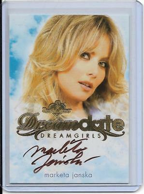2017 Benchwarmer Dreamgirls Marketa Janska Dream Date Autograph Card