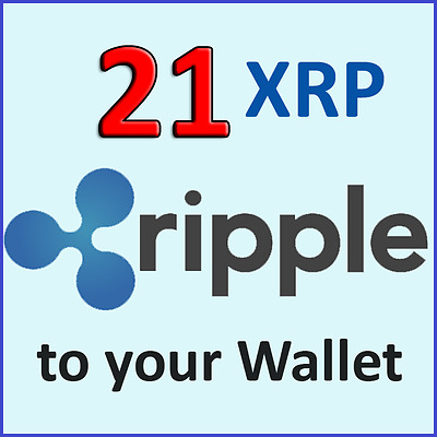 21 Ripple coin XRP CRYPTO CURRENCY to your Ripple XRP Wallet (up to 48 HRS)