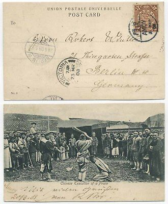 China 1908 Ppc Execution Of Pirate From Amoy To Germany