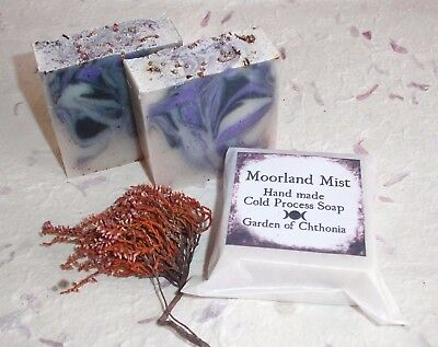 MOORLAND MIST~Cold Process Soap~Angelica/Heather/Wicca/Witchcraft/Faerie/Samhain