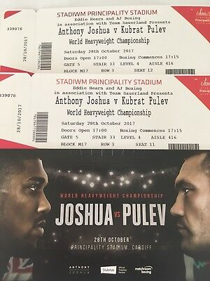 Anthony Joshua Vs Takam (Was Pulev) For 2 tickets