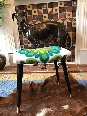 VINTAGE retro MID CENTURY 60s dressing table PIANO STOOL dansette legs