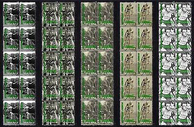 Hubert Opperman Cycling Icon Set Of 5 Mint Stamp Strips