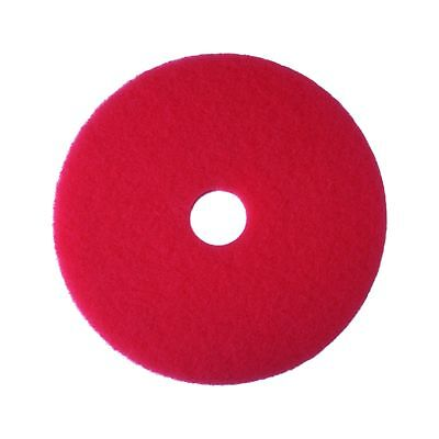 "3M Red Buffer Pad 5100 13"" Floor Buffer Machine Use (Case of 5) 13"""