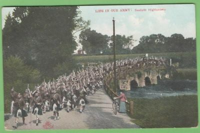 SEAFORTH HIGHLANDERS postcard - posted 1907 - LIFE IN OUR ARMY SERIES