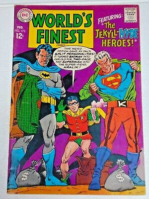 Worlds Finest #173 comic (VF-) Batman Superman