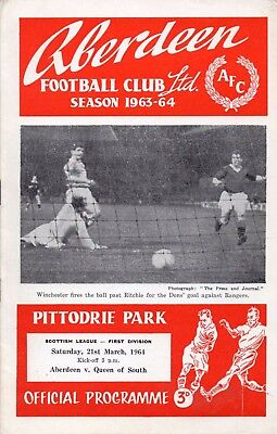 63/64 Aberdeen V Queen Of The South (3-0) (Scottish Division 1)