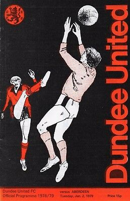 78/79 Dundee United V Aberdeen (Scottish Premier League)(January)