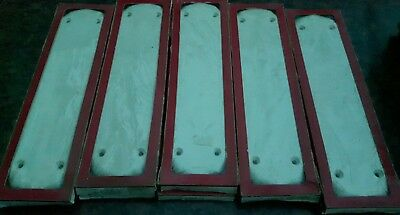 5 pairs of Ivory and Gold  Heatherley door furniture ceramic finger plates