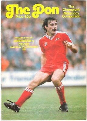 ABERDEEN v  CELTIC Scottish Premier Division, 27 September 1980