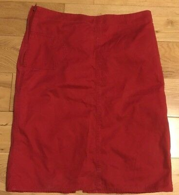 Ladies DKNY Skirt Rare Retro 80's Red Jeans Size 8
