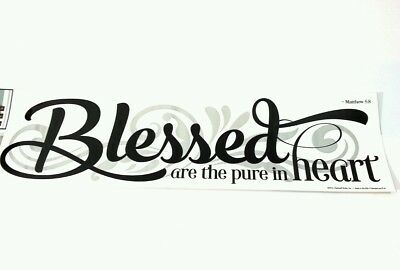 Main Street Wall Creations Stickers Blessed Are The Pure In Heart