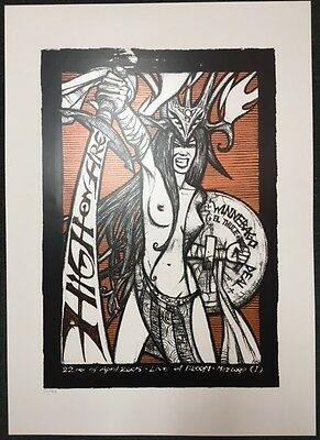 MALLEUS High on Fire MILANO Italy 2005 gig poster print #27/101 RARE