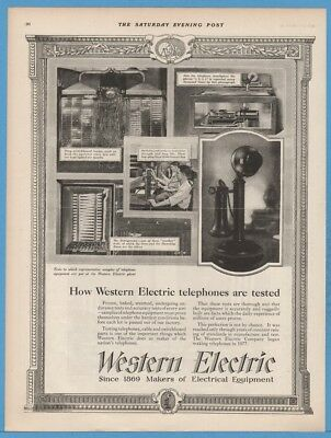 1922 Western Electric Candlestick Phone How How Telephones Are Tested Ad