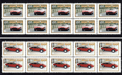 Maserati Khamsin 'classic Cars' Stamp Strip Pair 2