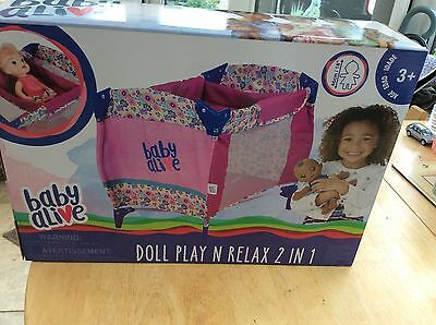 Baby alive dolls play pen/play cot ..RARE