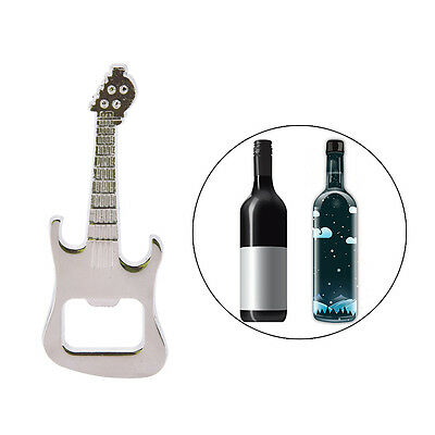 Adorable Bottle Opener Guitar Keyring Metal Kitchen Bar Beer Novelty Tool FO