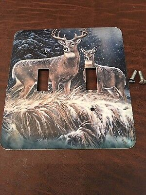 Light Switch Plate Cover (Buck and Doe)