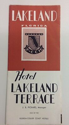 Vintage Hotel Lakeland Terrace Florida Brochure Advertising Late 1920s to 30s