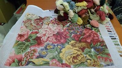 Primavera Tapestry Kit with Anchor Wools 'Rose & Peony'