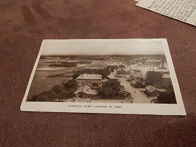 1911 Real Photo postcard -Curragh Camp-County Kildare Ireland / Eire -Irish Army