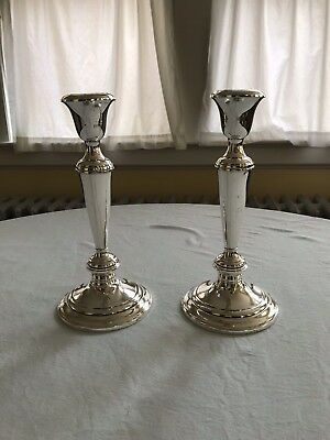 2 Vintage Gorham Sterling Silver Weighted Candlesticks Approx. 8 3/4""