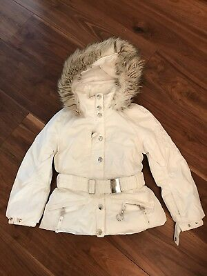 POIVRE BLANC GIRLS WHITE SKI JACKET AND TROUSERS Size 8