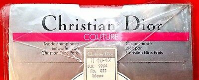 Vintage New CHRISTIAN DIOR Couture Pantyhose Stockings Size 2 40-42 NEW Germany