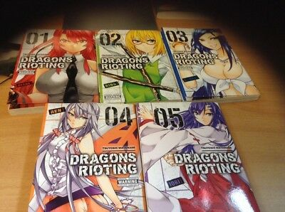 DRAGON'S RIOTING 1 - 5 new Run Manga Lot English Collection YEN PRESS