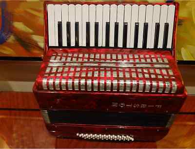 Red Professional 30 Key 48 Bass Preferred Musical Instruments Accordion #